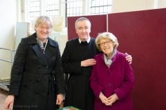 Fr Dominic with Anita King & Brenda Duncan