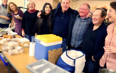 Harry Redknapp visits Hope For Food at the Sacred Heart