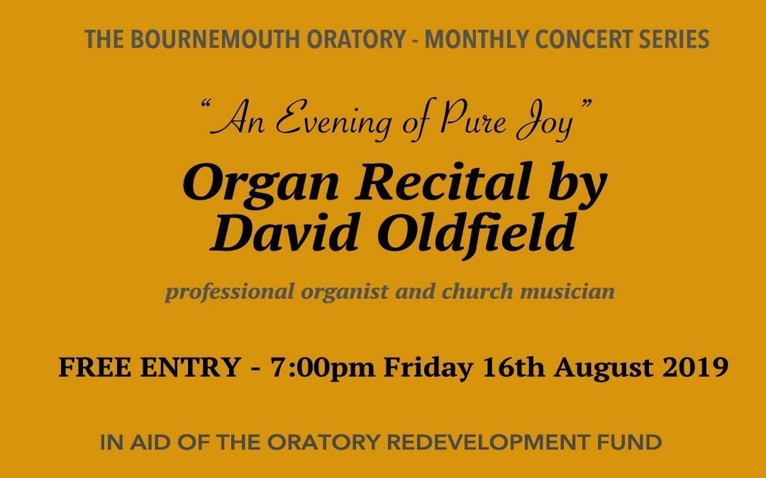 Organ Recital 16th August 2019
