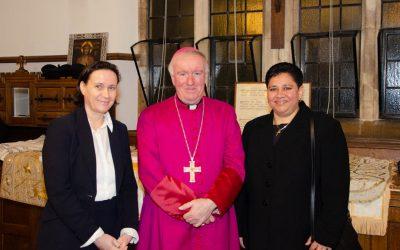 Bishop Philip greets AoA members