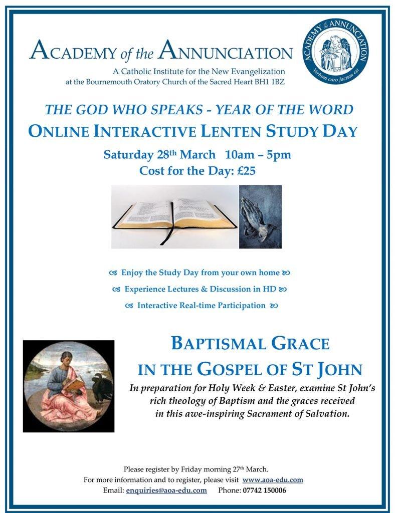 online Lenten Study Day