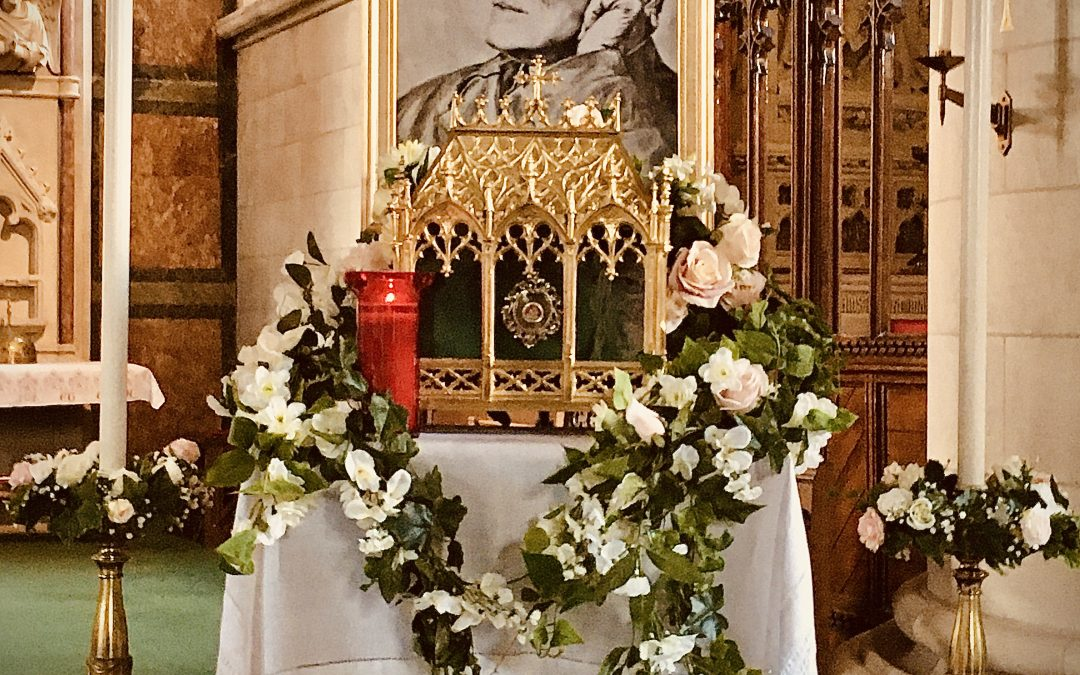 SAINT JOHN HENRY NEWMAN's Feast Day Shrine at the Bournemouth Oratory-in-Formation